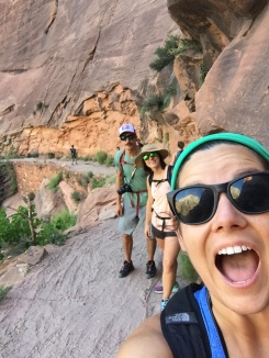 Hiking Zion National Park with Anna and John David