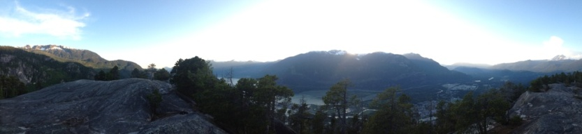 The view from The Chief in Squamish, Canada