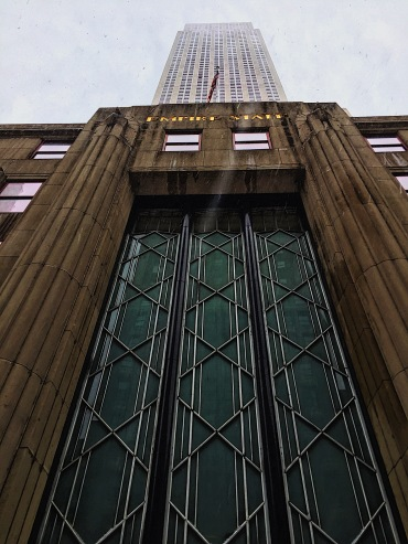 A closed view of the Empire State Building
