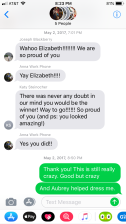 Celebratory messages