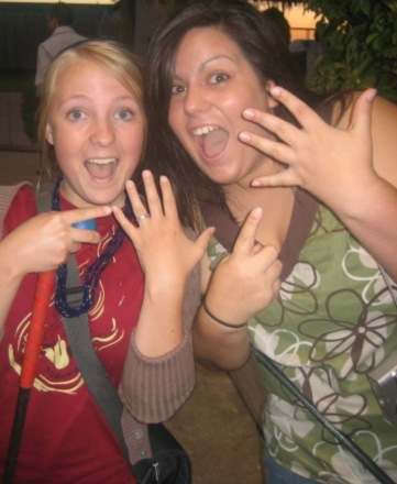 One of my first real friends to get engaged. Our eyebrows have come a long way since then.